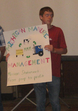 This group designed a cooperative that would help dairy producers convert manure to a marketable product.