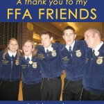 A thank you to my FFA friends